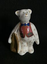 Royal Crown Derby Mini shop Bear WITH LOVE Bag - Paperweight / Figurine
