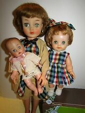 "Vintage Doll Horsman HAPPY FAMILY Effanbee MOST Mother 18"" Sister Baby 1950s Set"