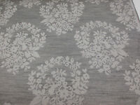 "Grey Floral ""Tonal Jacquard Damask"" Heavy Upholstery Fabric. By NEXT"