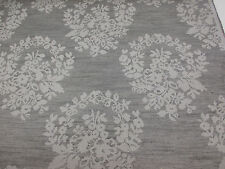 """Grey Floral """"Tonal Jacquard Damask"""" Heavy Upholstery Fabric. By NEXT"""