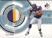 MICHAEL BENNETT RC 2001 SP AUTHENTIC 3 CLR PATCH #/800 (SURFACE CHIPPING) FB2196