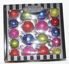 Christopher Radko BOX LOT OF 36 Christmas Ornament multicolor glitter shiny ball