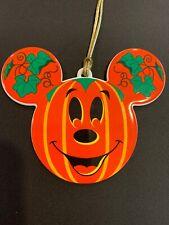 Disney Mickey Mouse Ears Happy Halloween Pumpkin Ornament Trick or treat