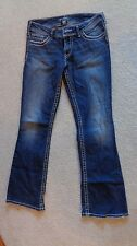 Silver Jeans Suki Low-Mid Rise Bootcut Thick Stitch Size 30 x 32, Exc Condition!