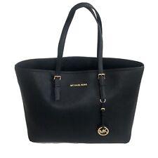 Michael Kors Jet Set Large Navy Saffiano Leather Travel Tote Bag Purse Handbag