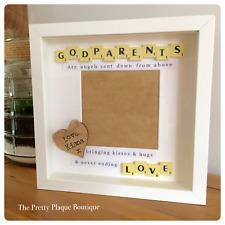 Personalised Scrabble Photo Frame Godparents Gift Wedding Gift Custom Made Gift