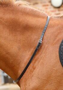 Premier Equine Altino Leather Neck Strap - Black Premier Equine