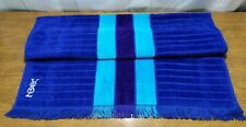 "Vintage Bath Towel blue stripe purple YSL FIELDCREST 45"" x 25"""