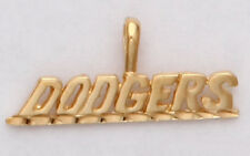 Los Angeles Dodgers Team Name Pendant Charm 24K Yellow Gold Plated Fan Jewelry