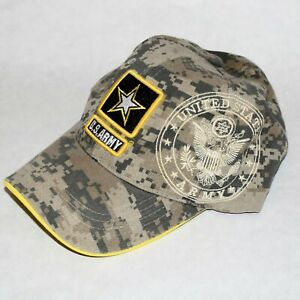 US Army Embroidered Camo Hat Baseball Cap Adult Adjustable