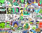 """50 pcs """"Alien"""" Sticker Pack ET UFO Galaxy Outer Space Invaders Science Decals"""