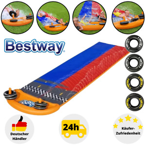 Bestway Wasserbahn Wasserrutsche XXL 488cm Waterplay Aufblasbar Poolrutsche Kind