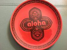 Walt Disney World Disneyland Adventureland Aloha Small Red Plate