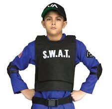 SWAT Police Vest Costume Girls Boys Commando Children Officer Fancy Dress