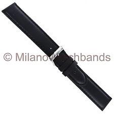 20mm Morellato Black Padded Genuine Italian Oil Leather Mens Watch Band XL 969