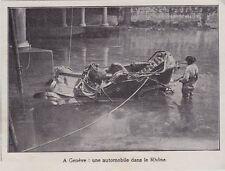 1909  --  SUISSE  A GENEVE  UNE AUTOMOBILE DANS LE RHONE  3I768