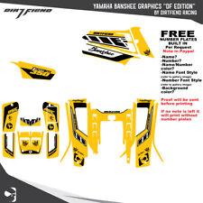 Yamaha Banshee 350 Graphics DFR DF edition Yellow Sides Fenders