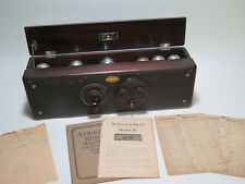 Atwater Kent Model 30 Antique Tube Radio Set 1926 With Manual & Radio Log