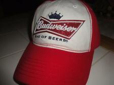 Budweiser Baseball Cap Hat Red White Adjustable WOMENs NWT NEW BUD