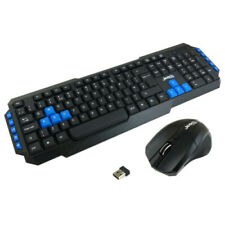 More details for jedel 2.4ghz wireless gaming keyboard and mouse set combo uk for pc laptop ws880