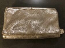 Free People Genuine Goat Leather Gold Jewelry Holder Case Wallet Pouch Trifold