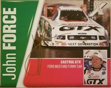 2006 Signed John Force NHRA Handout 16x Champ Castrol GTX 8 x 10 Free Shipping