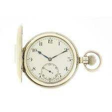 SILVER Syren Half Hunter Presentation Pocket watch 1924