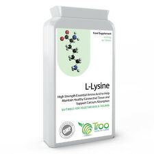 L-Lysine 1000mg 90 Tablets Healthy Stress Response and Calcium