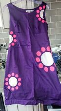 Lovely Boden Dress Purple With Flowers Size 10 Petite