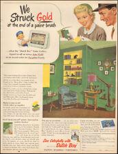 1953 Vintage ad for Dutch Boy Paint retro furniture Little blonde Girl  (021718)