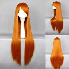 Ladieshair Cosplay Wig Perücke orange 80cm glatt EVA Asuka Karneval F7T