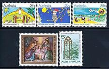 Australia/Austria = Navidad X5 Sellos MNH Niños Cuadros