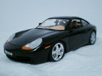 "1997 Porsche 911 Carrera 4 Scale 1/18 9.60"" Metal Diecast Model Sport Car Black"