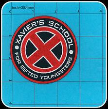 XAVIER'S SCHOOL Iron on Patch X-MEN MARVEL COMICS MOVIE LOGO HALLOWEEN XMEN RED