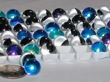 3pc Vitrail ab blue Helio Round Crystal Fire balls Rhinestone No holes 10mm