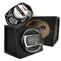 DS18 6x9 5-way Speakers 520 Watts Max With Speaker Box Enclosures Bundle Kit Set