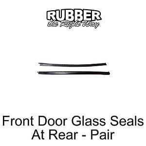 1969 Mercury Monterey Marquis Marauder Front Door Glass to Rear Qtr Seals - pair