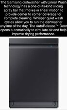 *Free Ship* Samsung Wi-Fi Linear Wash AquaBlast 39 dB Black Stainless Dishwasher