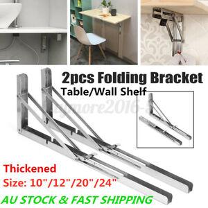 2X Folding Table Bracket Wall Shelf Bench Support Stand Holder Rack Heavy Duty