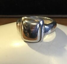 Vintage Silver Square Ring Size 7.5