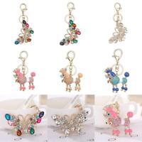 Crystal Rhinestone Keychain Handbag Hanging Charm Pendant Keyring Ornaments Gift