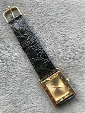 Pierre Ladies Quartz Watch New Black Patent Leather Band