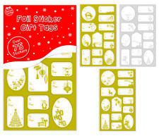 150 Christmas Gift Tags 75 Gold & 75 Silver Foil Gift Labels Christmas Stickers