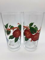 2 Franciscan Apples and Leaves Juice Glass Tumblers