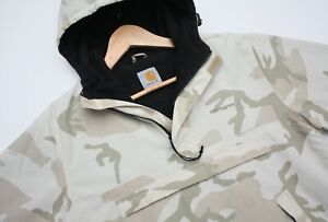 Authentic Carhartt WIP Nimbus Pullover Winter Beige Camouflage Size Small