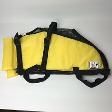 """Fido Float Small Dog (18-22"""" Girth) Yellow Life Vest Water Safety Swim Jacket"""