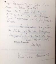 EO 1968 ENVOI dédicace Fadhma Aïth Mansour AMROUCHE HISTOIRE DE MA VIE Kabylie