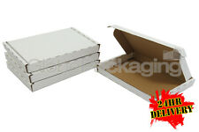 50 x WHITE PIP MAXIMUM SIZE LARGE LETTER CARDBOARD POSTAL BOXES 334x245x20mm