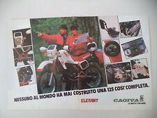 advertising Pubblicità 1984 MOTO CAGIVA ELEFANT 125