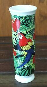 Copa Vase Macaw Floral Design San Francisco USA 1980 Very Good Condition